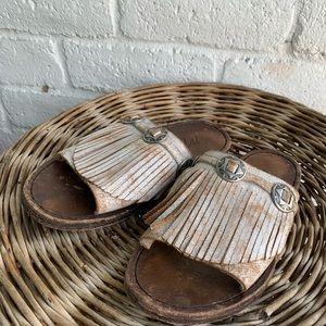Matisse | Leather Dorado Fringe Slide Sandals